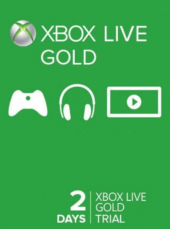 2 Day (48 hour) Xbox Live Gold Trial Membership (Xbox One/360)