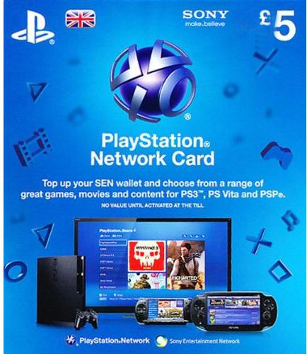 Playstation Network Card - £5