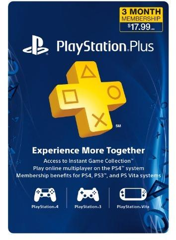3 Month Playstation Plus Membership - Ps3/ Ps4/ Ps VIta Digital Code
