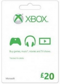 Microsoft Gift Card - £20 (Xbox One/360)