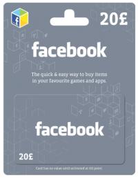 Facebook Gift Card - 20 GBP