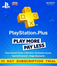 PlayStation Plus - 30 Day Trial Subscription (UK)