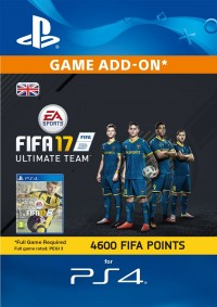 4600 FIFA 17 Points PS4 PSN Code - UK account