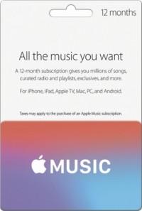 Apple Music Card - 12 Months UK