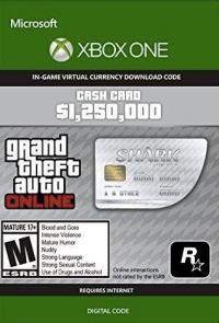 GTA V 5 Great White Shark Cash Card - Xbox One Digital Code
