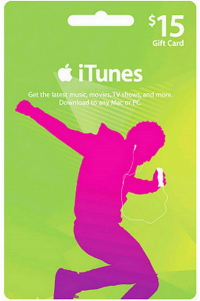 iTunes Gift Card - $15 USD