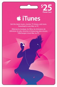 iTunes Gift Card - $25 USD