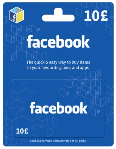 Facebook gift card 10 gbp cd key key cdkeys facebook gift card 10 gbp negle Gallery