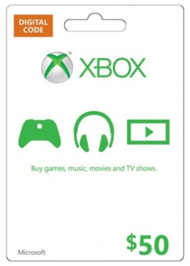 $50 Microsoft Xbox Gift Card
