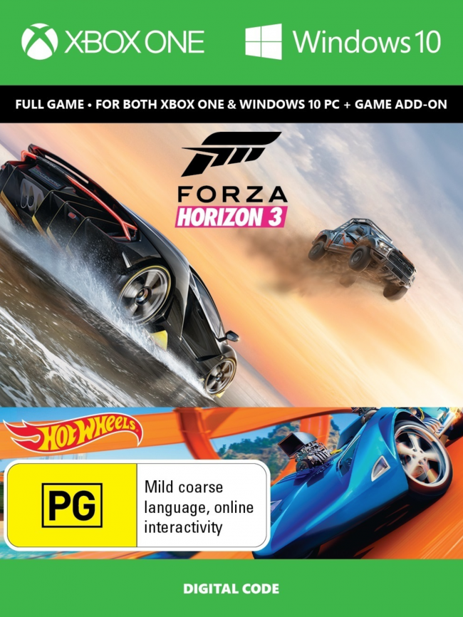 Forza Horizon 3 + Hot Wheels Xbox One/PC Digital Code