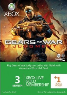 3 + 1 Month Xbox Live Gold Membership - GOW branded (Xbox One/360)
