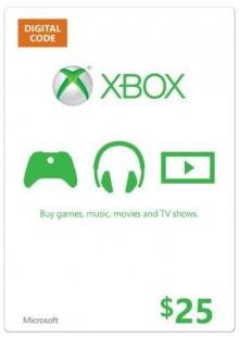 Microsoft Gift Card - $25 (Xbox One/360)