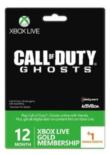 12 + 1 Month Xbox Live Gold Membership - Call of Duty Ghosts Branded (Xbox One/360)