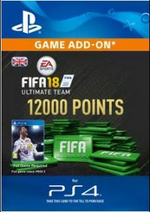12000 FIFA 18 Points PS4 PSN Code - UK account