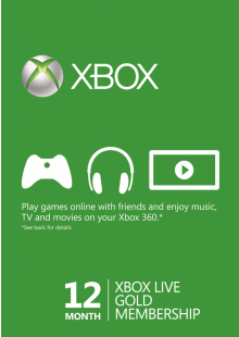 12 Month Xbox Live Gold Membership (Xbox One/360) BRAZIL