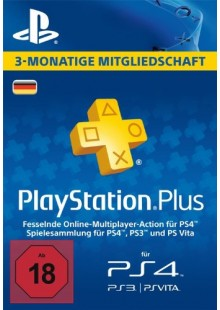 PlayStation Plus (PS+) - 3 Month Subscription (Germany)