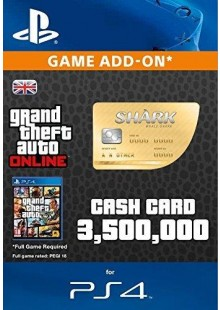 Grand Theft Auto Online (GTA V 5): Whale Shark Cash Card PS4