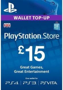 PlayStation Network Card - £15 (PS Vita/PS3/PS4)