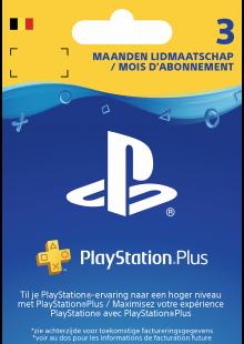 Playstation Plus (PS+) - 3 Month Subscription (Belgium)