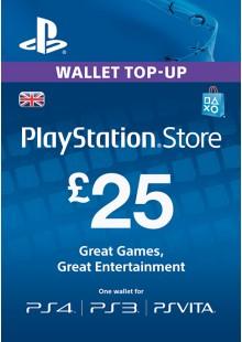Playstation Network Card - £25 (PS Vita/PS3/PS4)