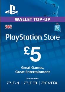 PlayStation Network Card - £5 (PS Vita/PS3/PS4)
