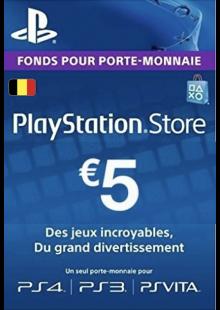 PlayStation Network (PSN) Card - 5 EUR (Belgium)