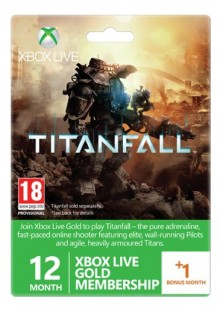 12 + 1 Month Xbox Live Gold Membership - Titanfall Branded (Xbox One/360)