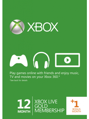 12 + 1 Month Xbox Live Gold Membership (Xbox 360)