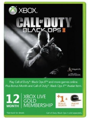 Xbox LIVE Gold 12-Month Membership Card with 1 Bonus Month - Call of Duty : Black Ops II 2 Branded (Xbox 360)