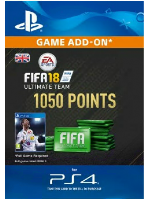 1050 FIFA 18 Points PS4 PSN Code - UK account