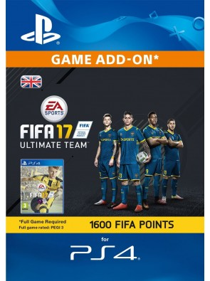 1600 FIFA 17 Points PS4 PSN Code - UK account