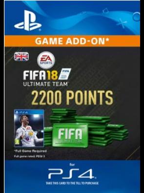 2200 FIFA 18 Points PS4 PSN Code - UK account