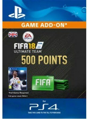 500 FIFA 18 Points PS4 PSN Code - UK account