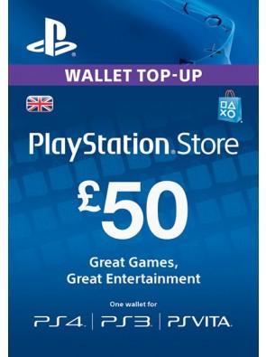 Playstation Network Card - £50 (PS Vita/PS3/PS4)
