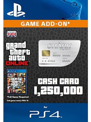 Grand Theft Auto Online (GTA V 5): Great White Shark Cash Card PS4