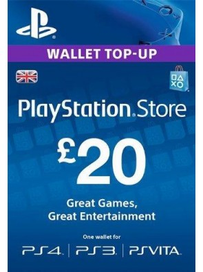 Playstation Network Card - £20 (PS Vita/PS3/PS4)