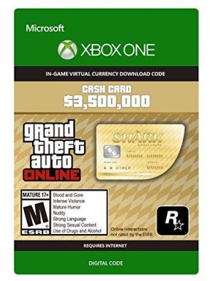 GTA V 5 Whale Shark Cash Card - Xbox One Digital Code