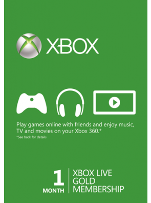 1 Month Xbox Live Gold Membership (Xbox 360)