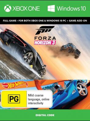Forza Horizon 3 + Hot Wheels Xbox One/PC Digital Code