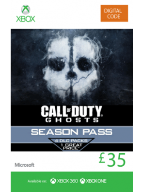 Xbox Live 35 GBP Gift Card: Call of Duty Ghosts Season Pass (Xbox 360/One)