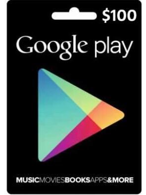 Google Play Gift Card $100 USD