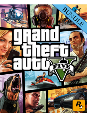 Grand Theft Auto V 5 - Megalodon Shark Card Bundle PC