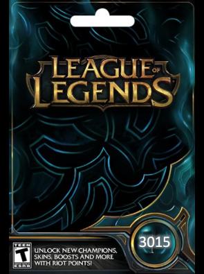 League of Legends: 3015 Riot Points Card