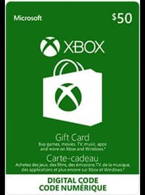 Microsoft Gift Card - CAD $50 (Xbox One/360)