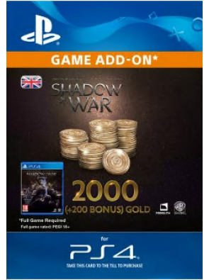 Middle-Earth: Shadow of War - 2200 Gold PS4
