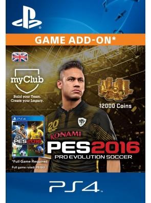 PES 2016 - 12000 myClub Coins PS4