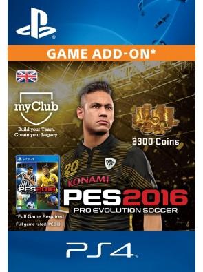 PES 2016 - 3300 myClub Coins PS4