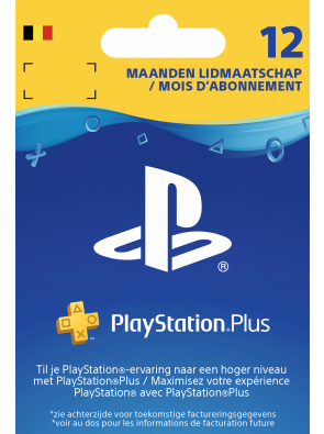 Playstation Plus (PS+) - 12 Month Subscription (Belgium)