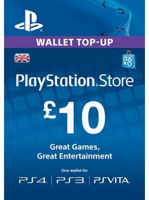PlayStation Network Card - £10 (PS Vita/PS3/PS4)