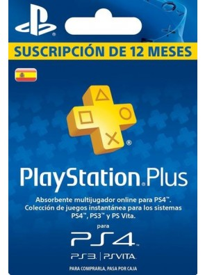 PlayStation Plus (PS+) - 12 Month Subscription (Spain)